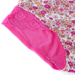 Women Sexy Lace Printing Bamboo Fiber Panties Breathable Low Waist Underwear