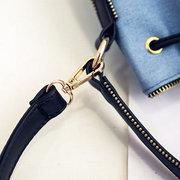 Женщины Элегантный Стильный Draw Строка Холст Совместное Shoudler сумка Crossbody сумки сумки