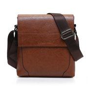 Men PU Leather Business Bag Leisure Exquisite Crossbody Bag Messenger Bag