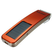 KEMEI KM-579 Solar Powered Energy Rechargeable Hair Trimmer Clipper Haircut Home Use
