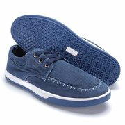 Men Denim Canvas Lace Up British Style Casual Sport Shoes
