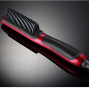 2 In 1 Electric Ceramic Hair Straightener Comb Brush Stylish Scald-proof 6 Gears