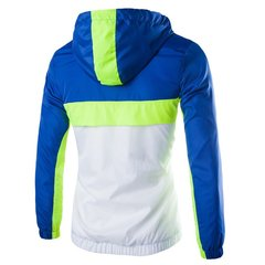 Men's Outdoor Quick Dry Splicing Hooded Fluorescence Windbreak Jacket Coat
