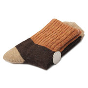 Winter Artificial Rabbit Wool Color Match Blend Soft Casual Ankle Socks
