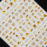 18 Styles Gold Nail art Sticker Decal Decoration