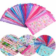20Pcs Women Lady Vintage Style Floral Bird Handkerchief Cotton Hanky