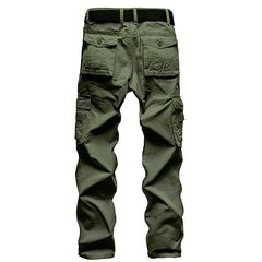 Men's Winter Outdoor Thickened Warm  Multi Pockets Casual Cargo Pants