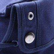 Мужчины Холст Кнопка Сложенные Pure Color High Top Узелок Повседневная обувь