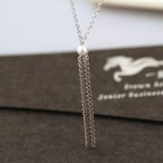 S925 Silver Tassel Pearl Clavicle Necklace