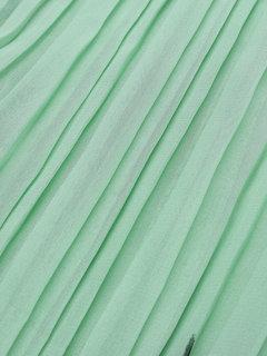 Elegant Women Ink Printed Pleated Chiffon Maxi Party Dresses