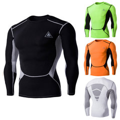 Quick-Dry Tight Bodybuilding Riding Boxing Training Sport Long Sleeve T-Shirt For Men