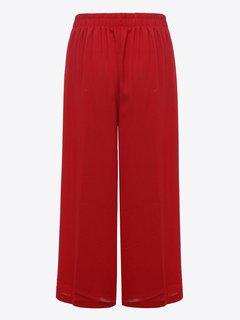 Brief Women Solid Elastic Waist Chiffon Ninth Pants