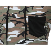 Mens Hoodies Camo Pattern Printing Front Pocket Casual Sport Hooded Tops
