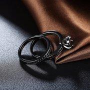 Simple Women Ring Glass Crystal Rhinestone Luxury Ring