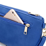 Retro Hollow Out Printing PU Leather Shoulder Bag Crossbody Bag For Women