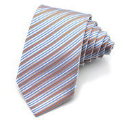 PenSee Men's Jacquard Woven Silk Twill Stripes Ties Business Profession Plaids Neckties