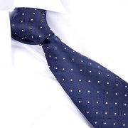 Men's Polyester Leisure Business Arrow Type Jacquard Pattern Ties