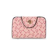 Женщины Стильный геометрический узор сумки Crossbody сумка кошелек брелок