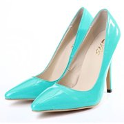 Candy Color Pointed Toe Slip On Office Lady Stiletto Heels High Heel Pumps
