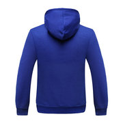 Mens Winter Fleece Lined Hoodies Thick Warm Solid Color Big Front Pocket Hooded Tops