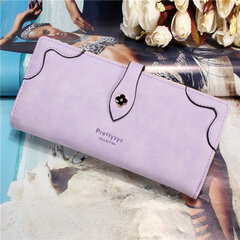 Women Elegant Long Nubuck PU Leather Wallet Card Holders Purse Tote