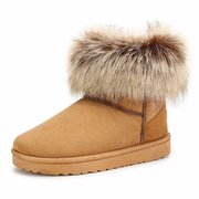 Pure Color Flat Ankle Snow Boots