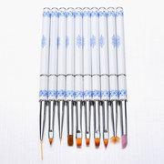 10шт Nail Art Pen Кисти Мягкие гладкие волосы Carving Kit Craft Brush Tool