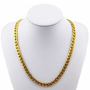 Golden Polished Stainless Steel Necklace