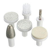 Kemei Electric Nail Art Drills Set Manicure Machine Pedicure Grinding Brush With 6 Replacement Heads