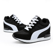 Heel Increasing Mesh Breathable Lace Up Casual Shoes