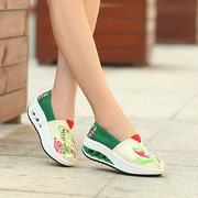 Canvas Butterfly Platform Slip On Rocker Sole Sport Shoes