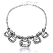 Crystal Square Choker Statement Necklace