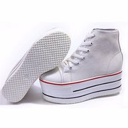 High Top Canvas Lace Up Comfort Inside Platform Sneaker Sport Shoes