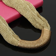 Vintage Women Necklace Net Rope Scarf Alloy Spring Circle Collar Necklace