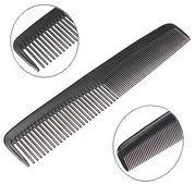 Black Plastic Unisex Hair Space Tooth Comb Durable Portable Salon Barber
