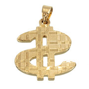 Gold Plated Dollar Sign Necklace Pendant
