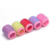 5Pcs Pink ABS Hair Curler Roller Salon DIY Hairdressing Tool
