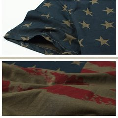 Battlefield Fans Men's Summer Camo Military Flag Printed Casual Outdoor T-shirts