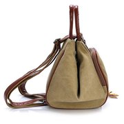 Women Canvas Tassel Diagonal Multi Functional Backpack