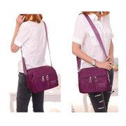 Women Nylon Crossbody Bag Square Shoulder Bag Multi-pocket Bag