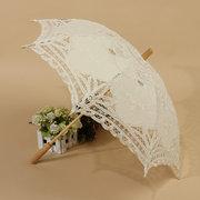 Retro Style Lace Handmade Hand Fan Parasol Umbrella Wedding Bridal Party Decor