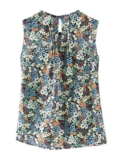 Women Sleeveless Floral Printed Tank Top Summer Vest