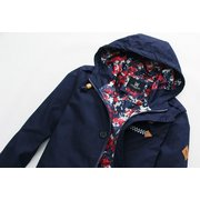 Men's Fashion Spring Fall Youthful Special Lined Color Cotton Hooded Jacket