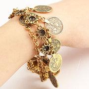 Coins Charm Alloy Chain Bracelet