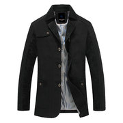Casual Outdoor Cotton Thin Jacket Slim Fit Turn-Down Collar Coat For Men
