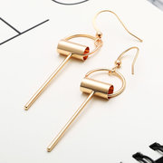 Vintage Alloy Circle with Pendant Tassel Drop Earrings for Women