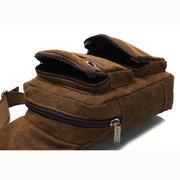 Мужчины Ретро Холст темно-коричневый Повседневная Открытый Грудь Crossbody сумка