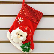 Christmas Decoration Socks Sequins Snowman Christmas Gifts Elderly Bear Deer For Christmas Tree
