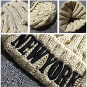 Women Skull Beanies Knitted Crochet Baggy Ski Cap Warm Soft Beanie Gorro Hat