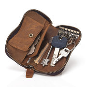 Men Women Genuine Leather Portable Vintage Car Keys Bags